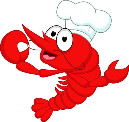 Shrimp chef  Vector