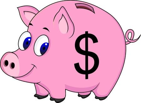 ahorros: Cerdo banco