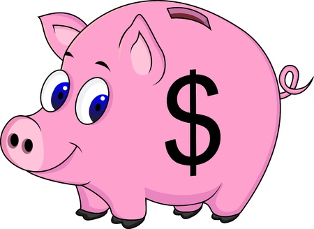 cost savings: Pig bank