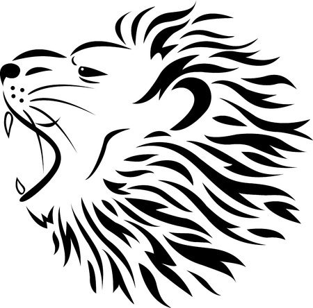 Lion tattoo  Stock Vector - 13780401
