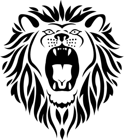 lion tattoo Stock Vector - 13780569