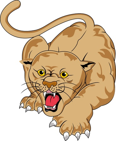 panther cartoon Vector