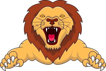 panthera: leone ettacking