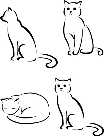silhouette chat: silhouette de chat