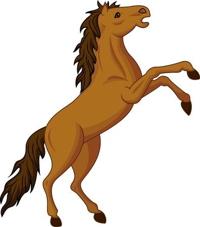 dessin au trait: cheval debout