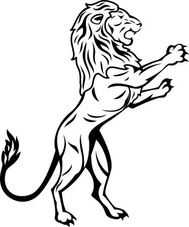 standing lion Vector