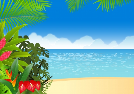 Bosque tropical Ilustración de vector