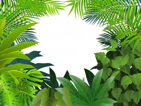 Tropisch bos achtergrond Stock Illustratie