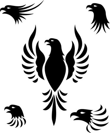 ave fenix: Águila cabeza tatuaje