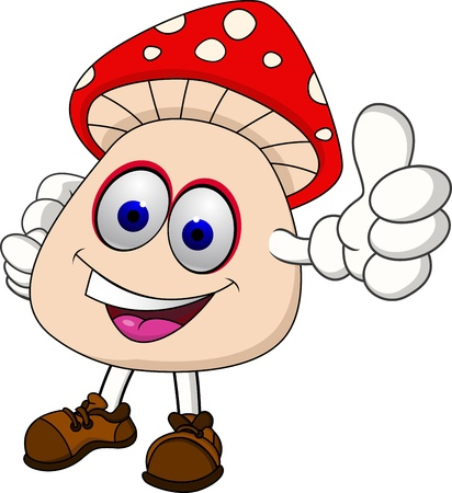Mushroom cartoon  Vector