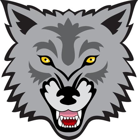 lupo mannaro: Lupo faccia Vettoriali