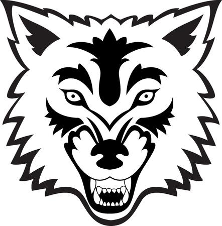 늑대: 늑대 얼굴 일러스트