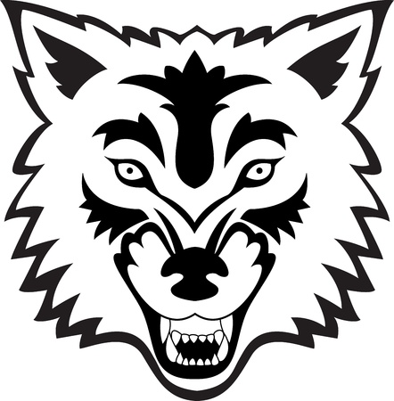 wolf head: Wolf face