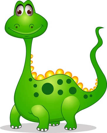 Cute green dinosaur cartoon  Stock Vector - 13778823
