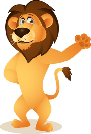 Funny lion cartoon  Stock Vector - 13778832
