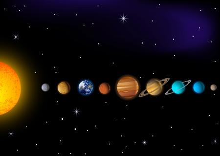 Solar system  Illusztráció
