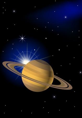 saturn: Planet background