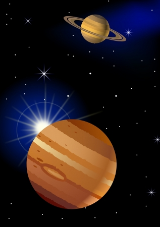 Planet background  Vector