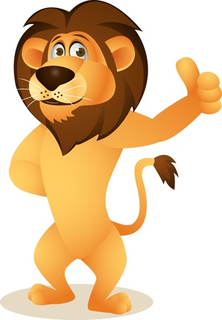 white lion: Funny lion cartoon Illustration