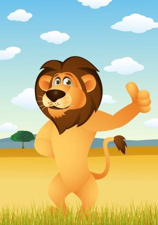 Funny lion cartoon Stock Vector - 13781751