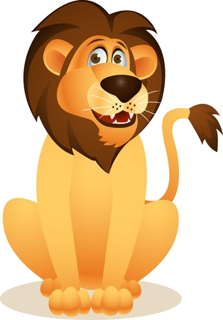 lion king: Funny lion cartoon Illustration