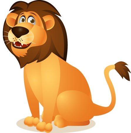 lioness: Lion cartoon sitting