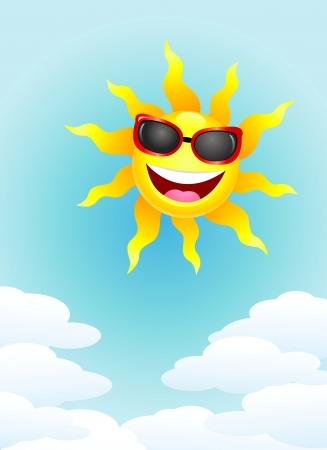 sunbathing: Sun cartoon