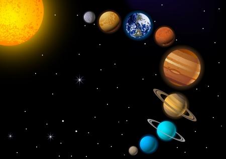 astrologie: Sonnensystem Illustration