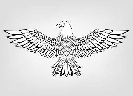 Eagle mascot  Ilustracja