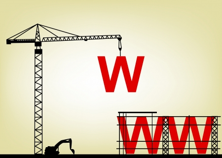 illustration de site Web de la construction
