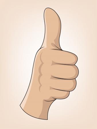 Thumb Up Gesture  Vector