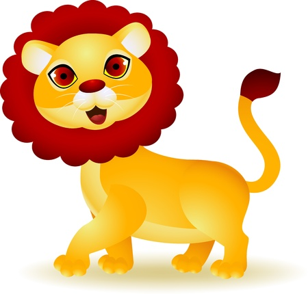 Funny Lion cartoon Vector