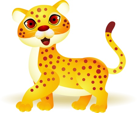 Funny cheetah cartoon  Vector