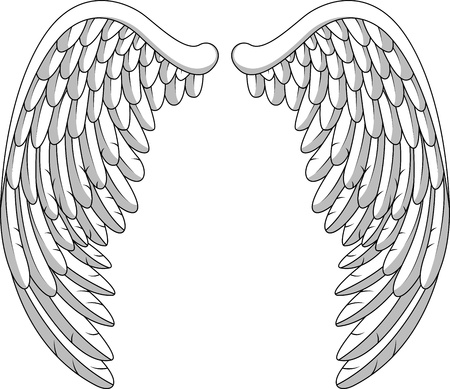 illustration of angel wing Vector