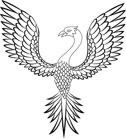 ancient bird: Phoenix tattoo
