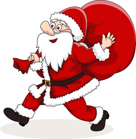 illustration of Santa Claus carrying big bag Stock Vector - 14325314