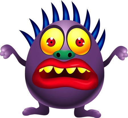 illustration of Purple monster cartoon  Vector
