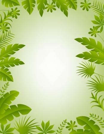 sfondo giungla: illustrazione di sfondo cornice floreale