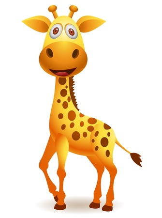 piebald: vector illustration of  Giraffe cartoon  Illustration