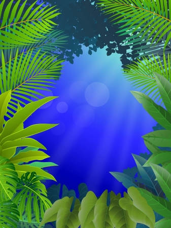 vector illustration of Tropical Leaf Background