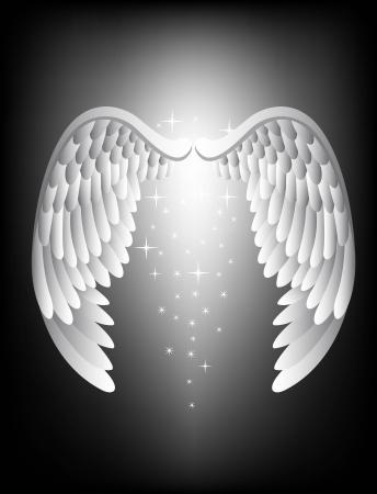 vector illustration of Angel wing