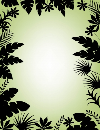 vector illustration of Tropical Leaf Background Stock Vector - 14325037