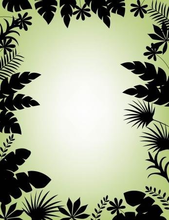 vector illustration of Tropical Leaf Background Stock Vector - 14325037