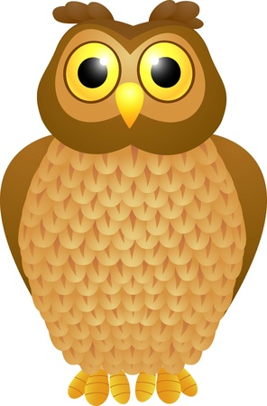 owl vector: vector illustration of Owl cartoon