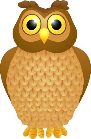 vector illustration of Owl cartoon Stock Vector - 14325027