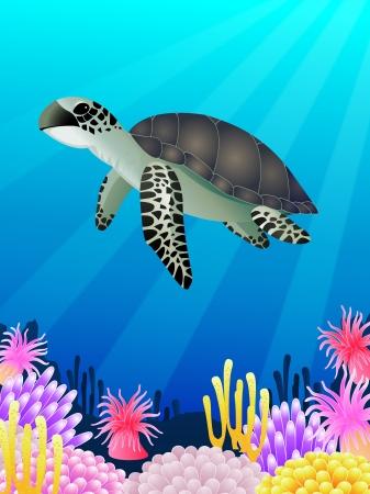 illustratie van Sea life achtergrond Vector Illustratie