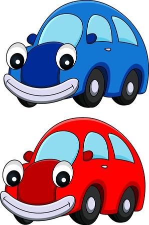 childish: illustration of Car cartoon