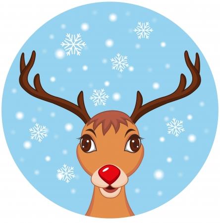illustratie van Cute Kerst Rendier