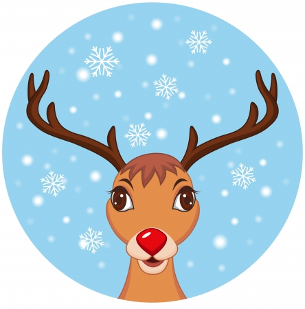 animal themes: illustration of Cute Christmas Reindeer