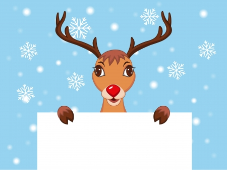 illustration of Cute Christmas Reindeer Stock Vector - 14320715
